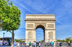 ツール・ド・フランスのパリ周回コースの風景 凱旋門