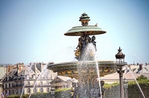 ツール・ド・フランスのパリ周回コースの風景 コンコルド広場