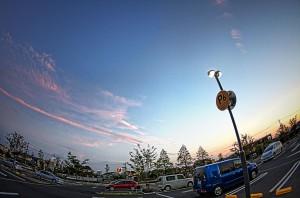 三井アウトレットパーク 夕方の駐車場 P6