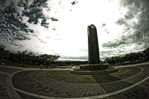 平和記念公園 式典広場と資料館