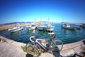 児島ボートレース場横の大畠漁港deポタリング