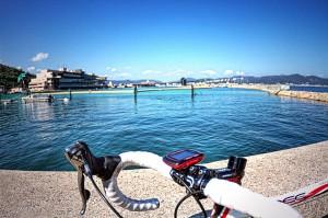 児島ボートレース場横の大畠漁港deポタリング スイムコース