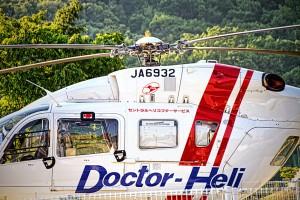 ドクターヘリ【HDR】ドクターヘリの真横からアップ