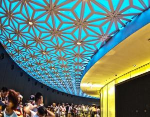 HDR in TokyoSkyTree @エレベータ乗り場の派手な天井