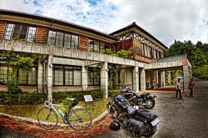 吹屋ふるさと村Part2 ロードバイクとハーレー