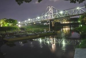 岡山後楽園と烏城でHDR@水面に輝く月見橋をHDR!