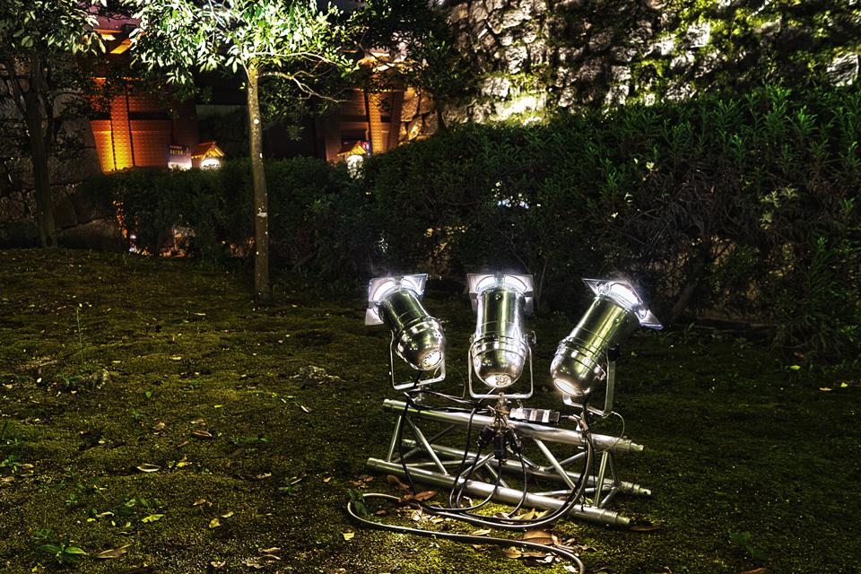 岡山城 烏城灯源郷 ライトアップの主役、光の正体は?