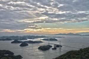 しまなみサイクリング@亀老山からの来島海峡大橋HDR#1
