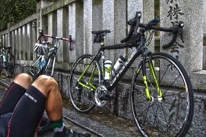 しまなみサイクリング@大三島の大山祗神社のキャノンデールCAAD10