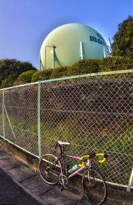 ふぉとぽた浦安公園 @岡山ガスの巨大タンクをHDRするが迫力なし!