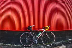 ふぉとぽた浦安公園 @児島湖の手前の赤い倉庫でHDR