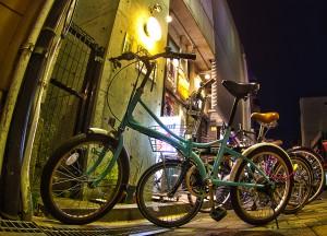 オランダ通りのミニベロ@BicyariOkayama