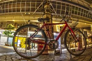 表町商店街にあった自転車@BicyariOkayama