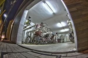 マンションの駐輪場@BicyariOkayama