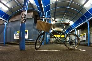 岡山駅前商店街の駐輪場の自転車@BicyariOkayama