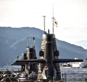潜水艦の艦橋@アレイからすこじま