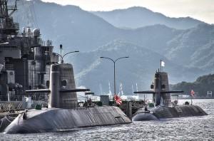 おやしお型とそうりゅう型潜水艦@アレイからすこじま