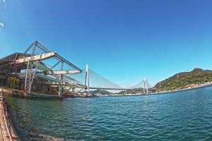 しまなみサイクリング@尾道から3番目の生口大橋でやっと橋上気分を満喫!