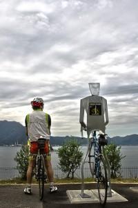 しまなみサイクリング@人間サイクルスタンドと人型サイクルスタンド