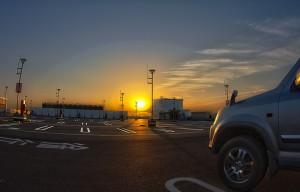 イオンモールでHDR@イオンモールの駐車場ゲートがパっカーンと自動で開く!