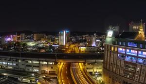 イオンモールでHDR@イメージしていた大都会の夜景・・??さみしすぎる!