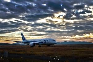 岡山空港のボーイング787@ツール・ド・おきなわ2015でHDR