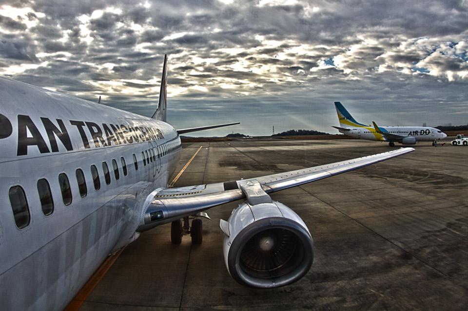 岡山空港のJTAボーイング737