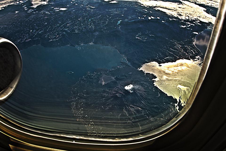 JTA沖縄便B737から見る桜島