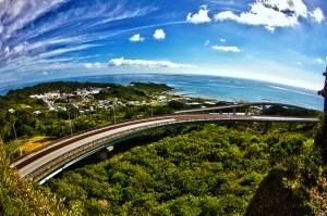 二ライカナイ橋 沖縄南部をサイクリング@ツール・ド・おきなわ2015でHDR