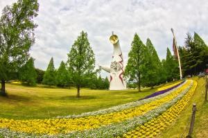 鯉のぼりと太陽の塔@万博記念公園