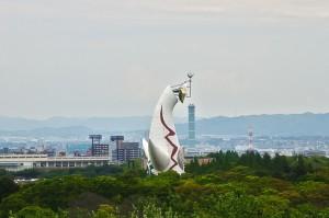 ソラード展望台から見た太陽の塔@万博記念公園