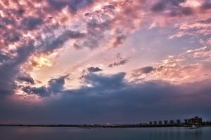 夕暮れの児島湖@SkyCollection