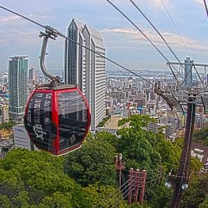 ハーブ園山麓駅から山頂駅へロープウェイで登りました。@神戸布引HerbGardens