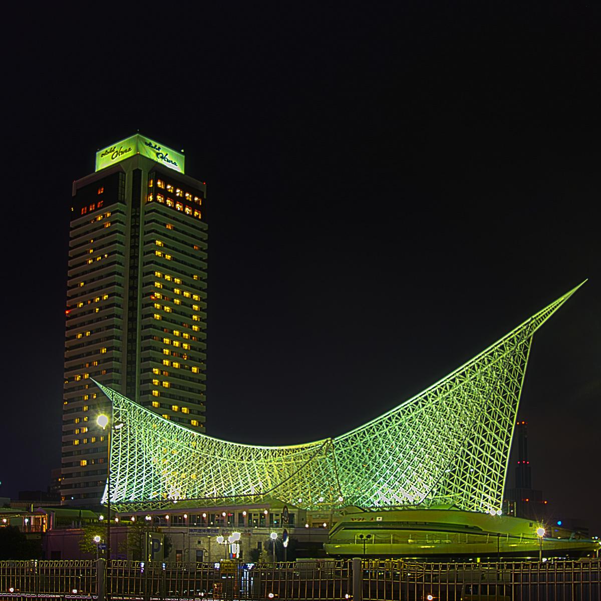 神戸海洋博物館とオークラ
