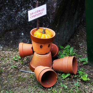 神戸布引ハーブ園のかわいい鉢人形、その2@神戸布引HerbGardens