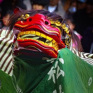 吉備津彦神社へ初詣、獅子舞の演舞@獅子舞