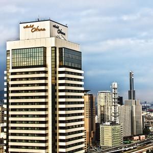 ポートタワーの展望台から見たホテルオークラ!