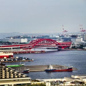 ポートタワーの展望台から見た神戸大橋!@KOBE AGAIN
