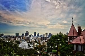 北野天満神社から撮った風見鶏の館@KOBE AGAIN
