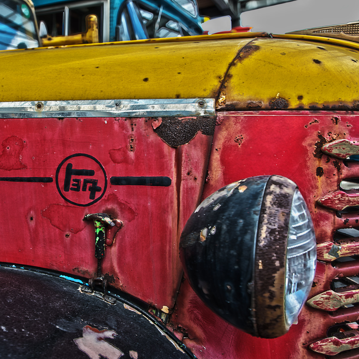 錆びたトヨタBM型トラック