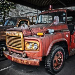 錆びたトヨタF型ボンネット消防車Part2、福山北消防署@RUSTED CAR