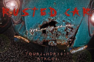 錆びた自動車をHDR@RUSTED CAR
