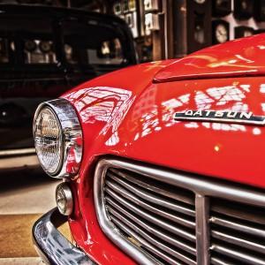 「Datsun」これ、最近の若い人読めないんだろうなー!@Vintage Car