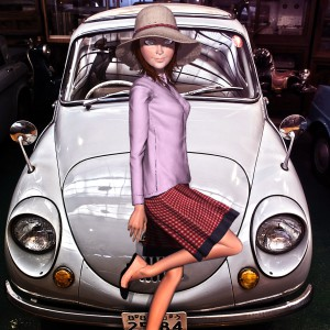 スバル360と3Dモデル@RETRO CAR