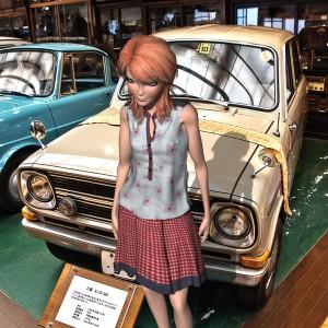 三菱ミニカ360と3Dモデル@RETRO CAR