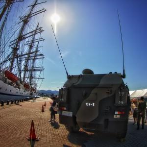 82式指揮通信車(コマンダー)自衛隊車両も来てました!カンメシもあった!@たまの港フェスティバルでHDR
