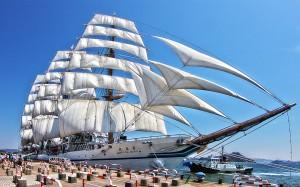 太平洋の白鳥と呼ばれる日本丸@たまの港フェスティバルでHDR