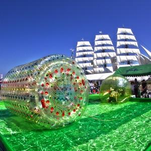 アクアボール&アクアロール@たまの港フェスティバルでHDR