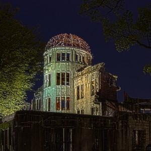 時の流れを感じさせる原爆ドームの夜景@A‐BOMB DOME