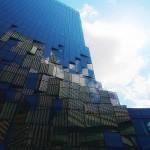 セルフうどん簾と富国生命ビル@Building in Sky